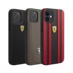 FERRARI Genuine Leather Hard Case for iPhone 12 Pro Max / 12 Pro / 12