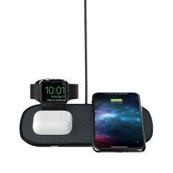 Mophie 3 in 1 Wireless Charge Pad - Qi Wireless 7.5W Charging Pad for iPhone, Airpods, and Apple Watch