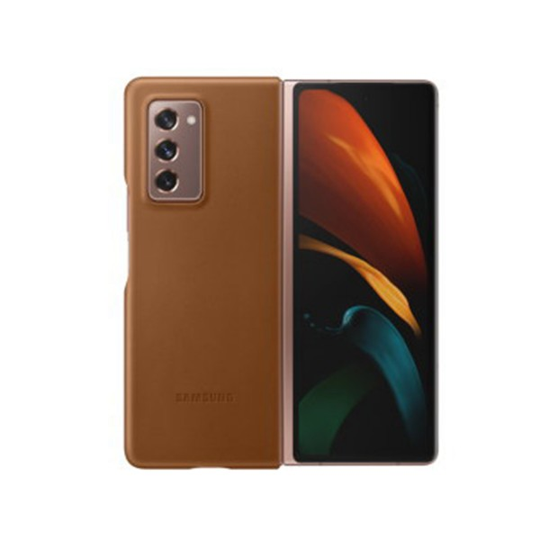 Official Samsung Galaxy Z Fold 2 5G Genuine Leather Cover Case
