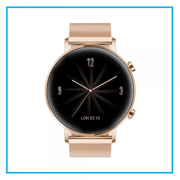 HUAWEI Watch GT 2 (42 mm) Smart Watch, 1.2 Inch AMOLED Display with 3D Glass Screen, 1 Week Battery Life, GPS, 15 Sport Modes, Refined Gold
