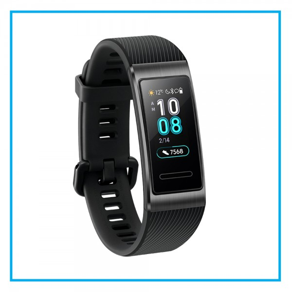HUAWEI Band 3 Pro All-in-One Fitness Activity Tracker, 5ATM Water Resistance for Swim, 24/7 Heart Rate Monitor, Built-in GPS