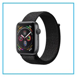 Apple Watch Series 4 Space Gray Aluminum Case Black Sport Loop 44mm