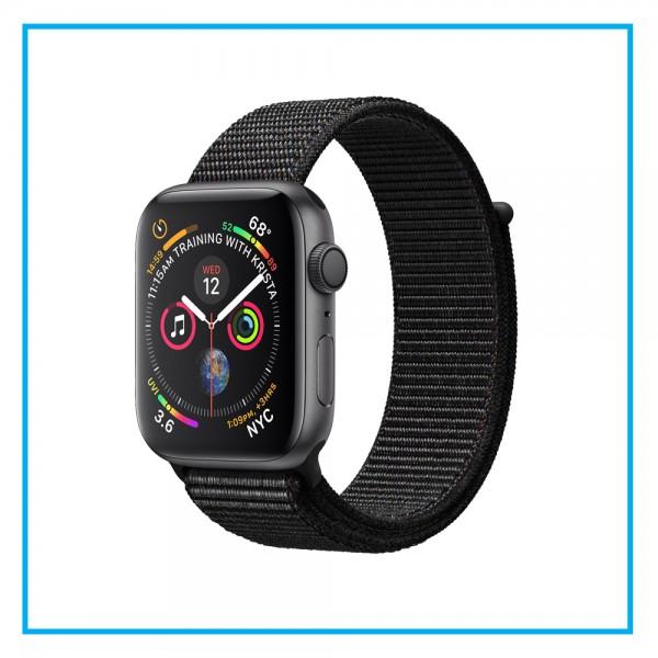 Apple Watch Series 4 Space Gray Aluminum Case Black Sport Loop 44mm